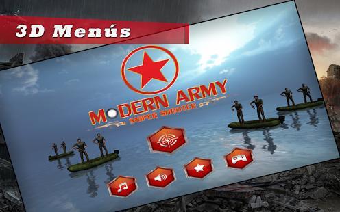Ejército Modern Sniper tirador
